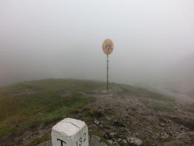 Grenzpunkt Österreich Deutschland