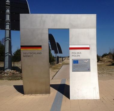 Deutsch-Polnische Grenze bei Swinemünde 2013